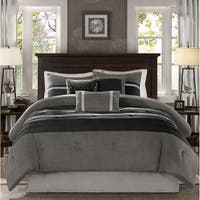 Madison Park Porter Black/ Grey Comforter Set King Size (As Is Item)