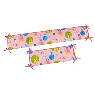 NoJo Forever Friends Little Bedding Pink Crib Bumper