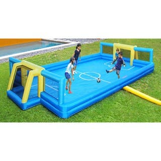 Sportspower 26-feet x 14-feet Inflatable Soccer Court - BLUE, YELLOW - 26' x 14' x 3.5'