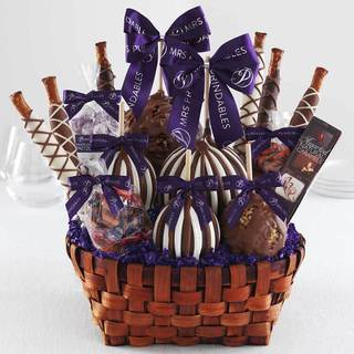 Premium Signature Caramel Apple Basket