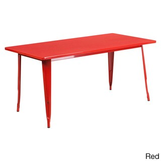 Offex Solid-color Metal Cafe Table