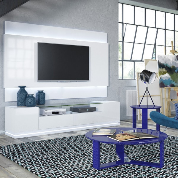 Shop Manhattan Comfort Vanderbilt Tv Stand And Lincoln 2 2 Floating