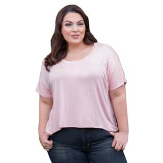 Sealed with a Kiss Women's Plus Size Ollie Oversized Top|https://ak1.ostkcdn.com/images/products/11818896/P18725005.jpg?impolicy=medium