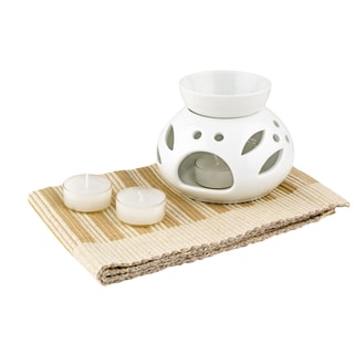 Red Vanilla Trends White Oil Burner Set