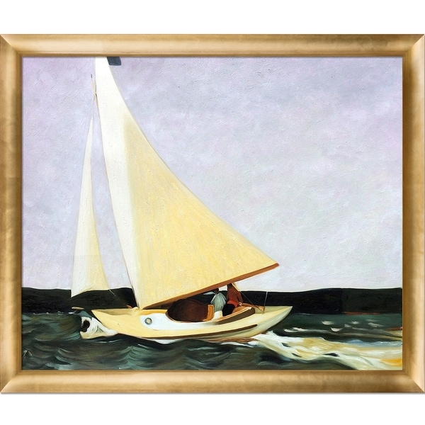 Edward Hopper \'Sailing, 1911\' Hand Painted Framed Canvas Art - Free ...