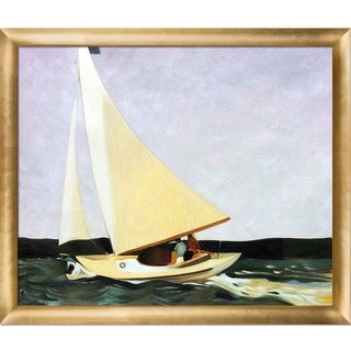 Edward Hopper 'Sailing, 1911' Hand Painted Framed Canvas Art