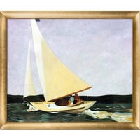 Edward Hopper 'Sailing, 1911' Hand Painted Framed Canvas Art