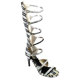Qupid LAGOON-09 Knee High Gladiator Sandals