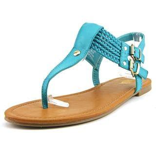 Mia Women's 'Ivelise' Blue Faux-Leather Sandals