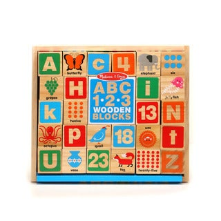 Melissa & Doug ABC/123 Wooden Blocks