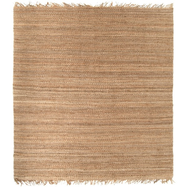 Handmade Brown Natural Fiber Jute Area Rug (8' Square)