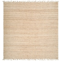 Hand-woven Jute Bleached Area Rug - 8' Square
