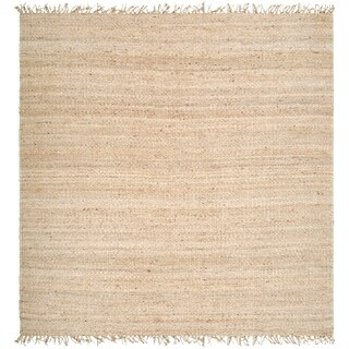 Hand-woven Jute Bleached Area Rug - 8' x 8'