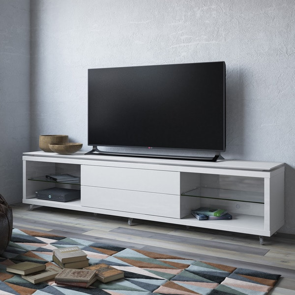 Shop Manhattan Comfort Lincoln Tv Stand 2 4 With Silicon Casters