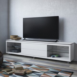 Manhattan Comfort Lincoln TV Stand 2.4 with Silicon Casters