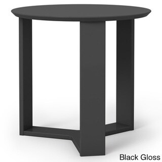 Manhattan Comfort Madison Lime Gloss 2.0 23.85-inch Round Accent End Table