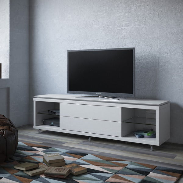 shop manhattan comfort vanderbilt tv stand and cabrini 2 2 floating wall tv panel with led. Black Bedroom Furniture Sets. Home Design Ideas