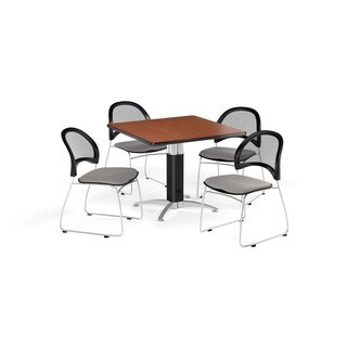 OFM 36-inch Square Multi Purpose Table with 4 Moon Chairs