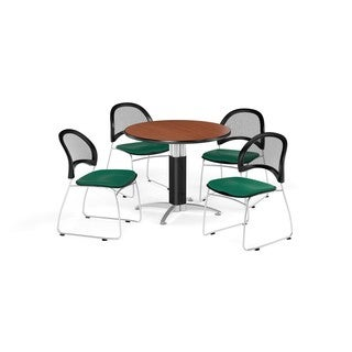 OFM 42-inch Round Multi Purpose Table with 4 Moon Chairs