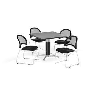 OFM 42-inch Square Multi Purpose Table with 4 Moon Chairs