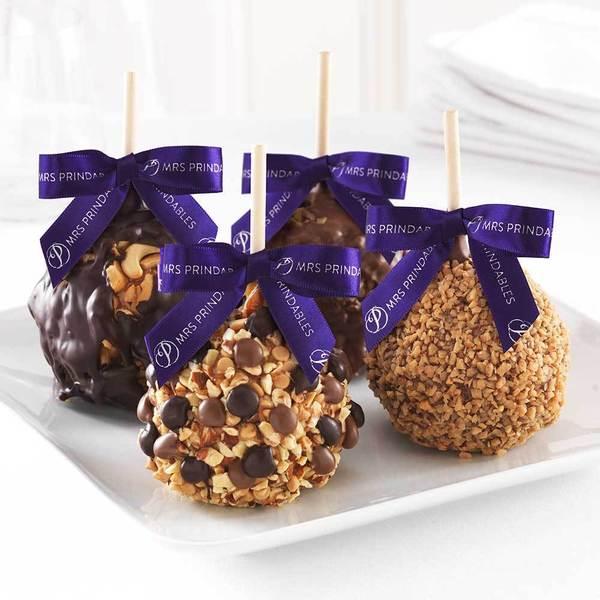 Nut Lovers 4-pack Caramel Apple Gift