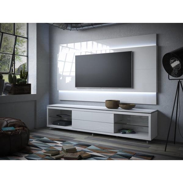 manhattan comfort lincoln white gloss floating wall tv. Black Bedroom Furniture Sets. Home Design Ideas