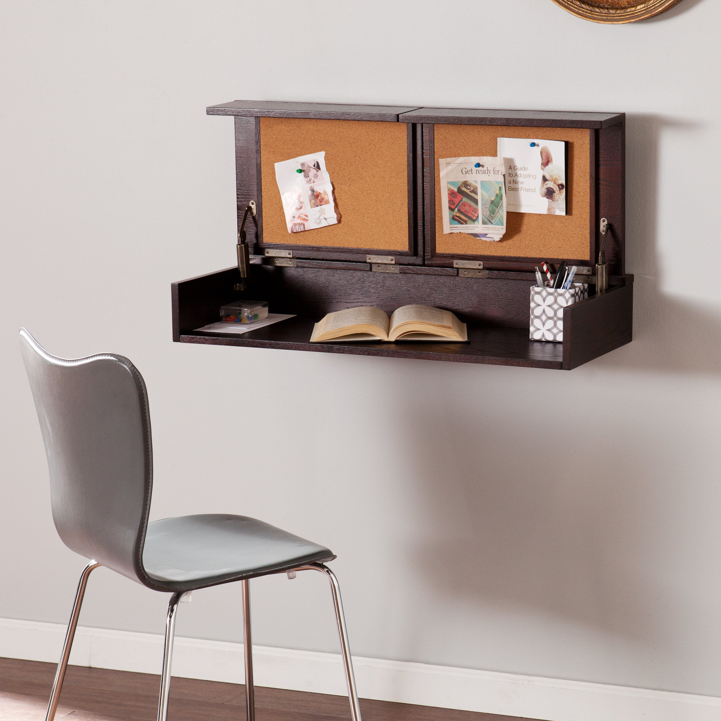Harper Blvd Lenora Wall Mount Desk (OS4016OH), Brown, Siz...