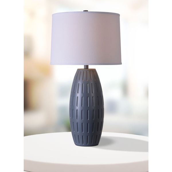 Design Craft Brail 30-inch Table Lamp - Blue