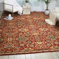 Nourison Timeless Red Rug - 7'9 x 9'9