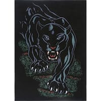 "Home Dynamix Zone Collection Transitional Machine Made Polypropylene Black Area Rug - 5'2"" x 7'4"""