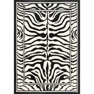 Home Dynamix Zone Collection Transitional Black Area Rug (5'2 x 7'4)