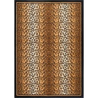 Home Dynamix Zone Collection Transitional Black Area Rug - Gold/Black - 5'2 x 7'4