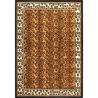 Home Dynamix Zone Collection Transitional Black Area Rug - Black/Gold - 5'2 x 7'4