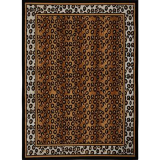 Home Dynamix Zone Collection Transitional Machine Made Black Area Rug (3'7 x 5'2)