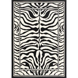Home Dynamix Zone Collection Transitional Black Area Rug (3'7 x 5'2)