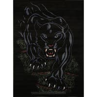 Home Dynamix Zone Collection Transitional Black Area Rug - 3'7 x 5'2