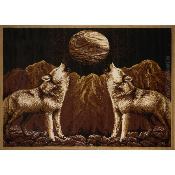 Home Dynamix Zone Collection Transitional Brown Area Rug - 3'6 x 5'6