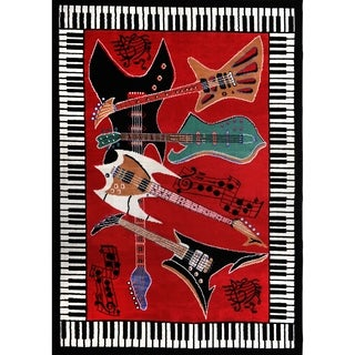 Home Dynamix Red Zone Collection Transitional Machine Made Polypropylene Area Rug (3'7 x 5'2)