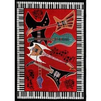 Home Dynamix Zone Collection Transitional Red Area Rug (3'7 x 5'2)