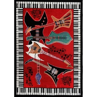 Home Dynamix Zone Collection Transitional Red Area Rug - 3'6 x 5'6
