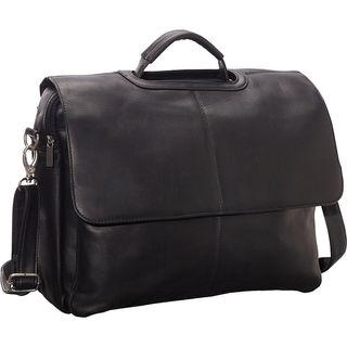LeDonne Vaqueta Flap-over Leather Briefcase
