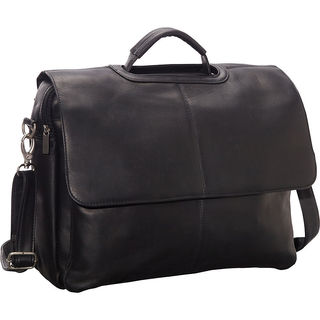 LeDonne Vaqueta Flap-over Leather Briefcase