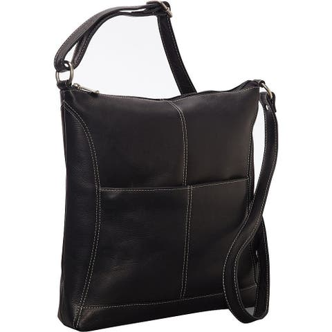 LeDonne Leather Easy-slip Crossbody Leather Shoulder Bag