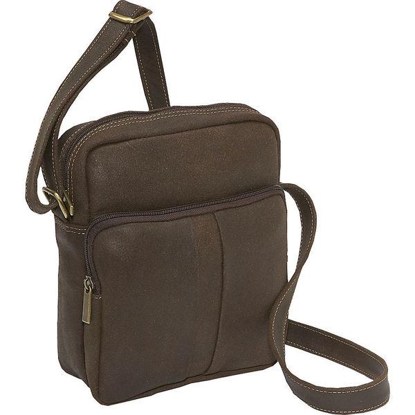 LeDonne Men's Distressed Leather Day Bag