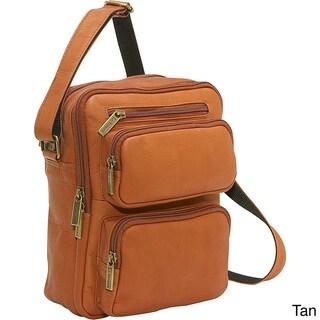 LeDonne Leather Men's Multi-pocket Organizer Leather Bag