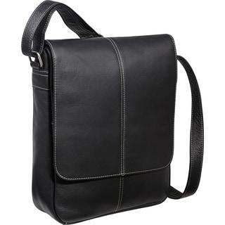 Le Donne Flap-over Tech-friendly Leather Messenger Bag