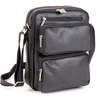 LeDonne Leather Multi-pocket Tech Bag