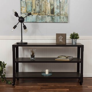 Bombay Grey 3-Shelf Media Console with Caster Wheels