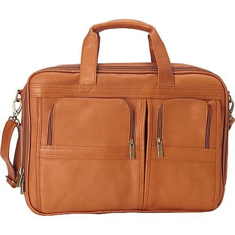 "LeDonne Leather Executive Leather Laptop Briefcase - 17""w x 12.25 ""h x 7.5""d"