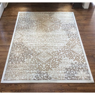 Admire Home Living Plaza Mia Bone Area Rug (7'10 x 10'6) - 7'10 x 10'6